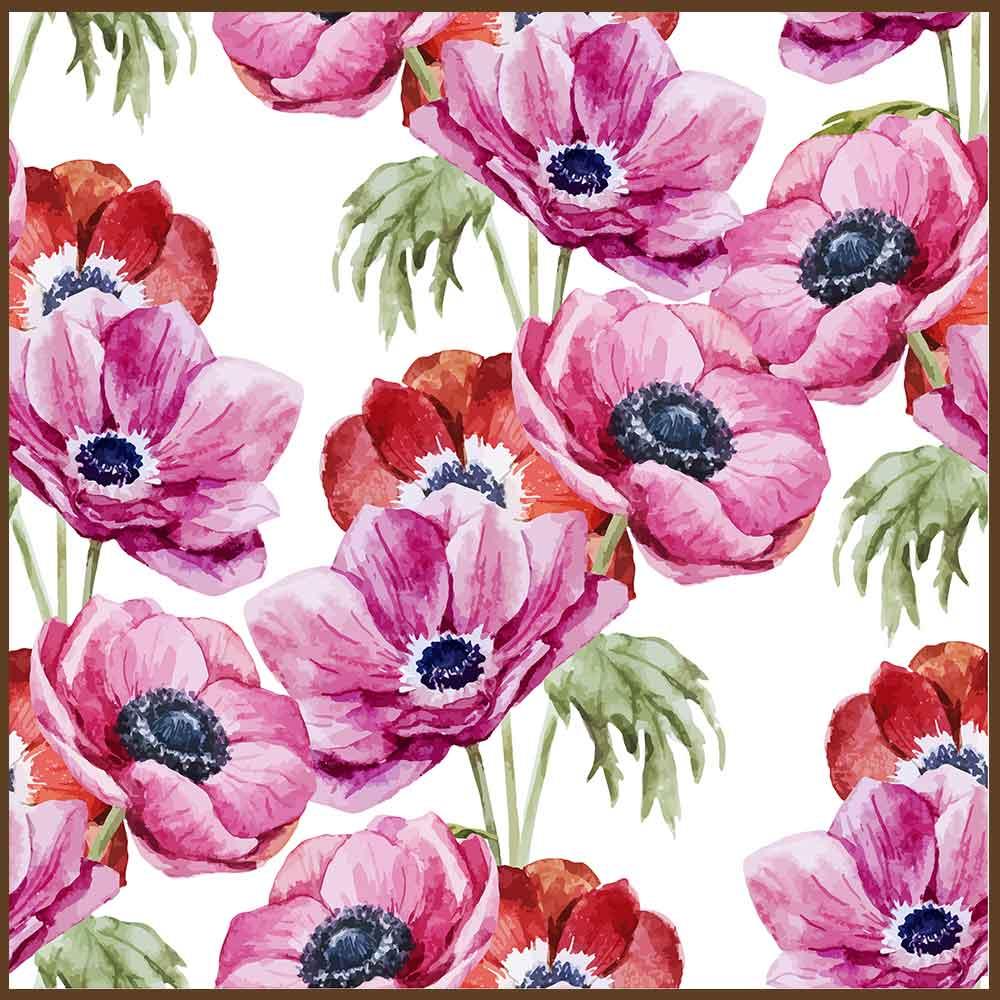 Quadro decorativo Flores em canvas - AGFL105