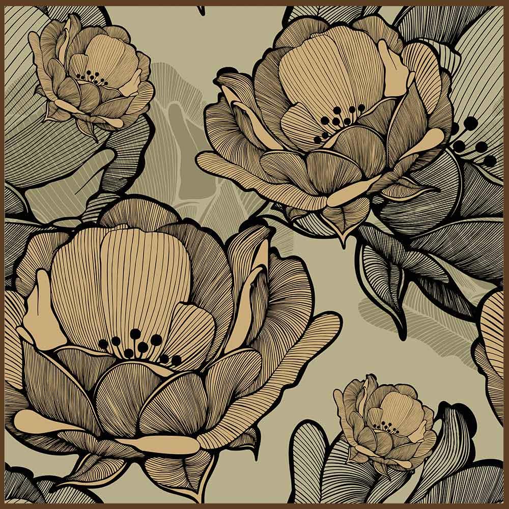 Quadro decorativo Flores em canvas - AGFL106
