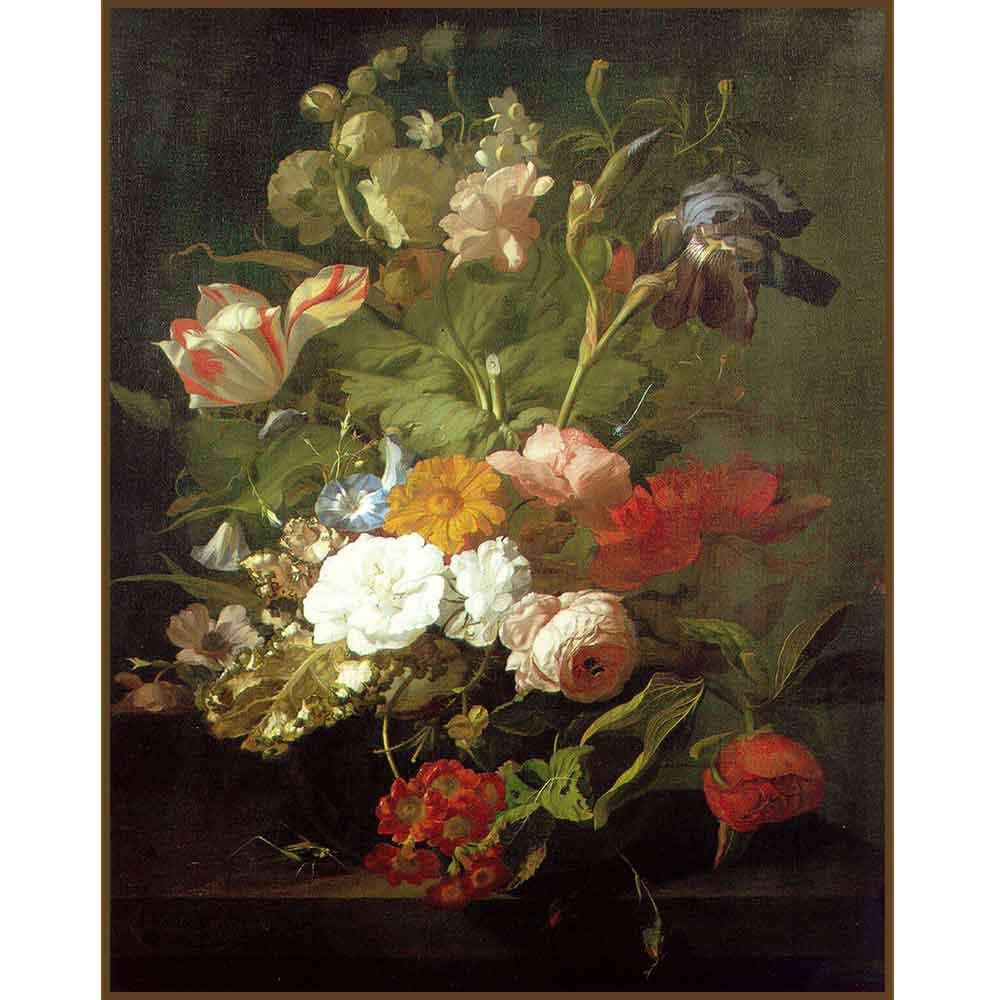 Quadro decorativo Flores em canvas - AGFL109