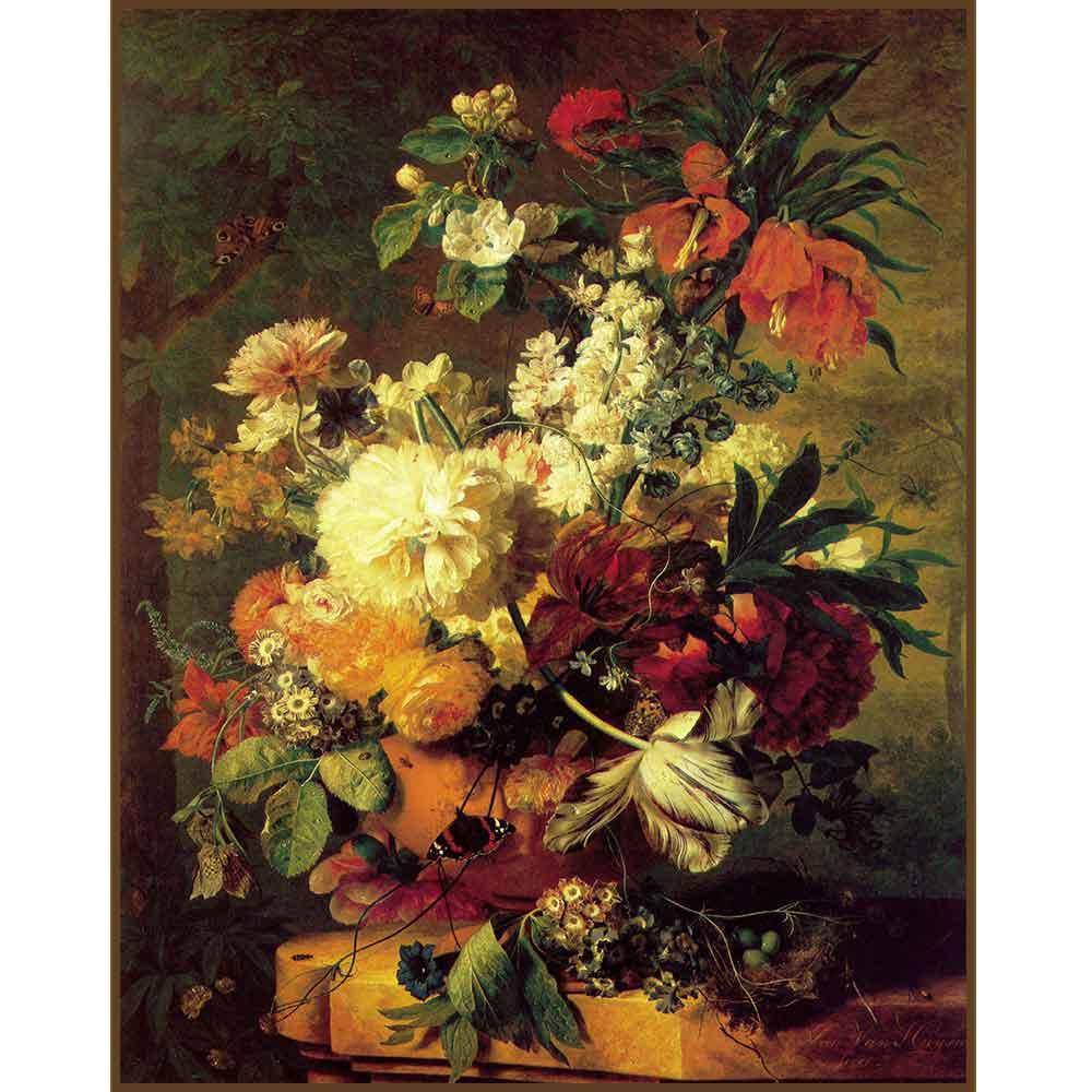 Quadro decorativo Flores em canvas - AGFL110