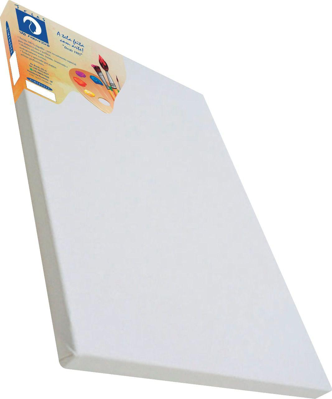 Tela comum para pintura 12x30cm - São Francisco