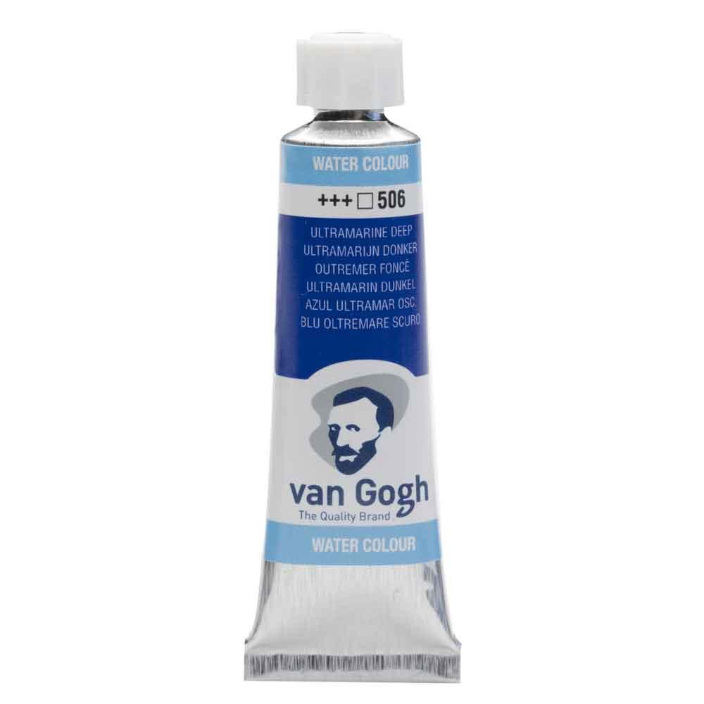 Tinta Aquarela Em Bisnaga Azul Ultramar Escuro 506 Van Gogh - Royal Talens 10ml