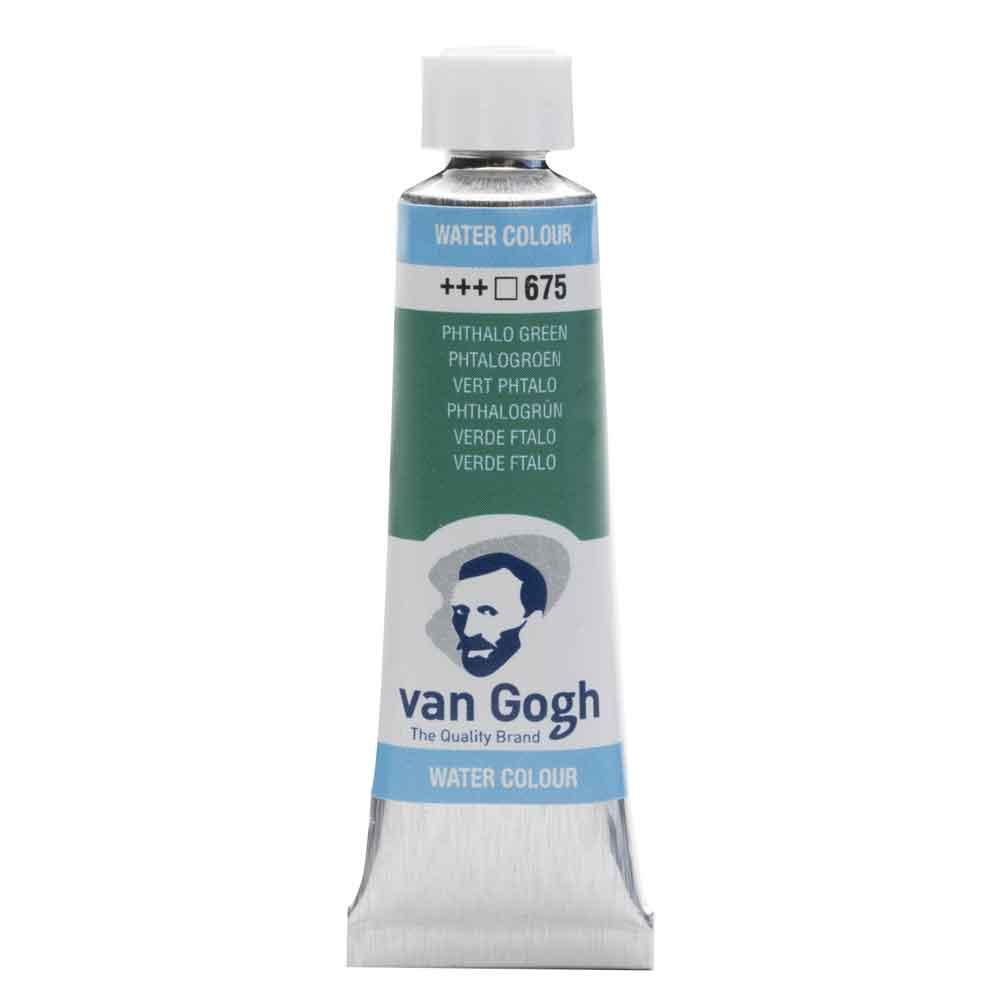 Tinta Aquarela Em Bisnaga Verde Ftalo 675 Van Gogh - Royal Talens 10ml