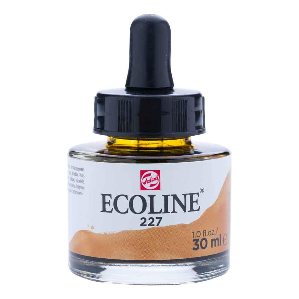 Tinta Aquarela Líquida Amarelo Ocre 227 - Ecoline Talens 30ml