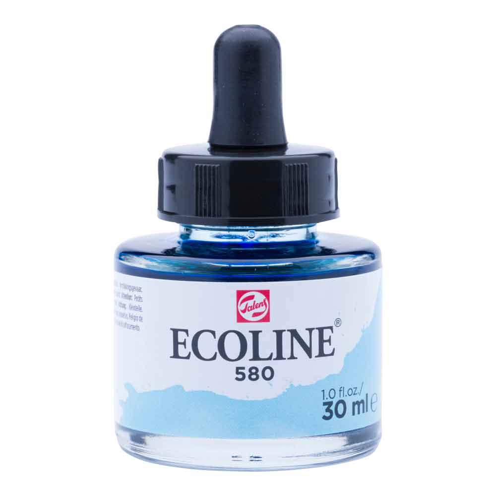 Tinta Aquarela Líquida Azul Pastel 580 - Ecoline Talens 30ml