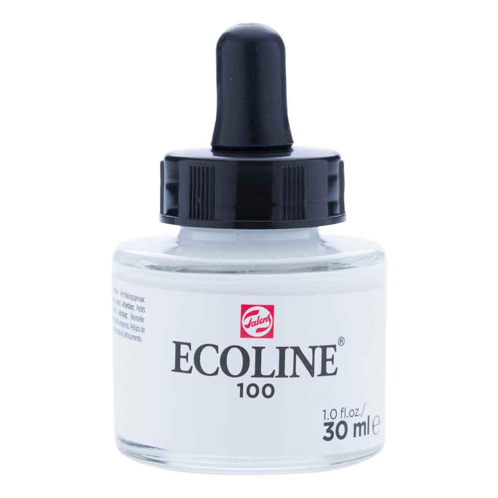 Tinta Aquarela Líquida Branco 100 - Ecoline Talens 30ml