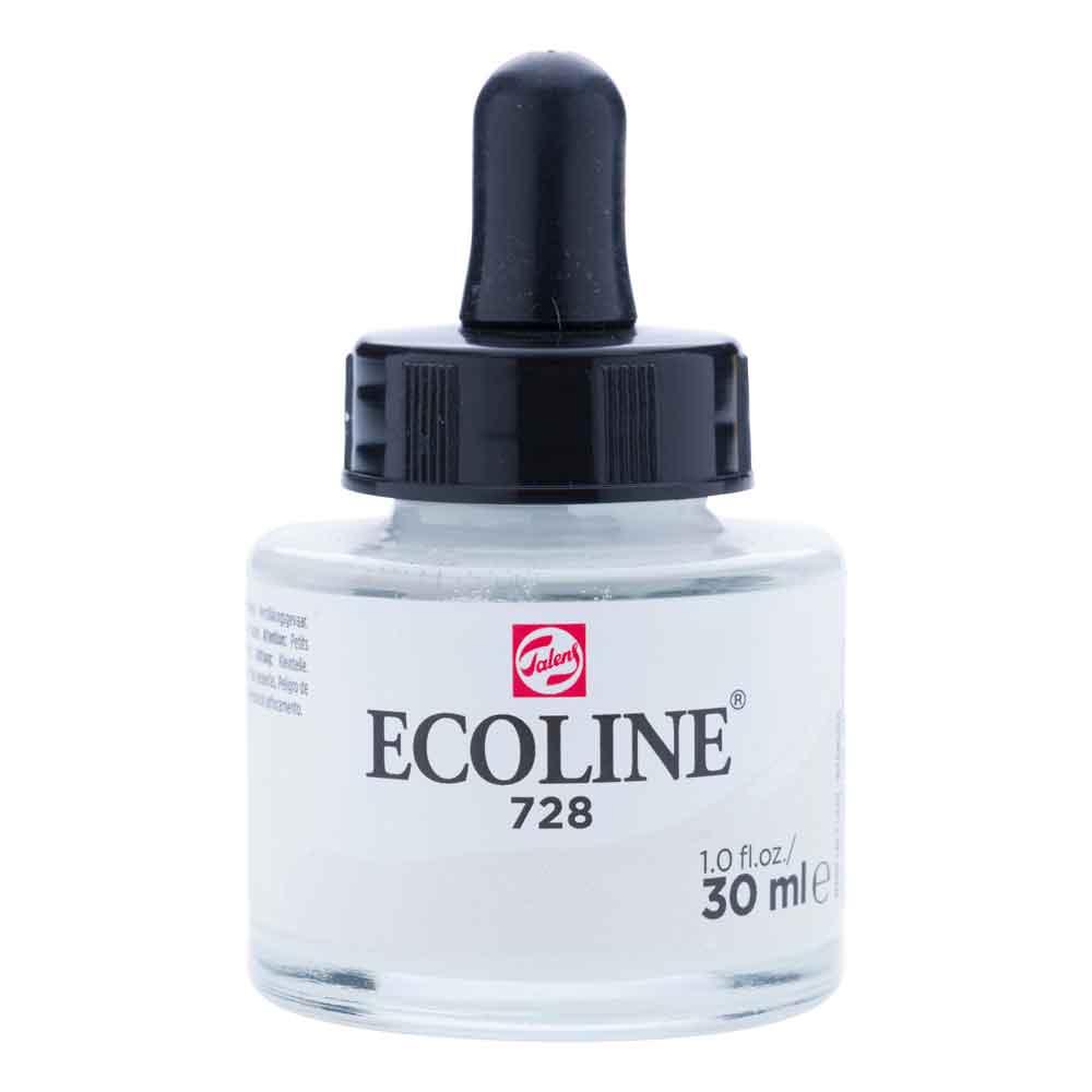 Tinta Aquarela Líquida Cinza Quente Brilhante 728 - Ecoline Talens 30ml