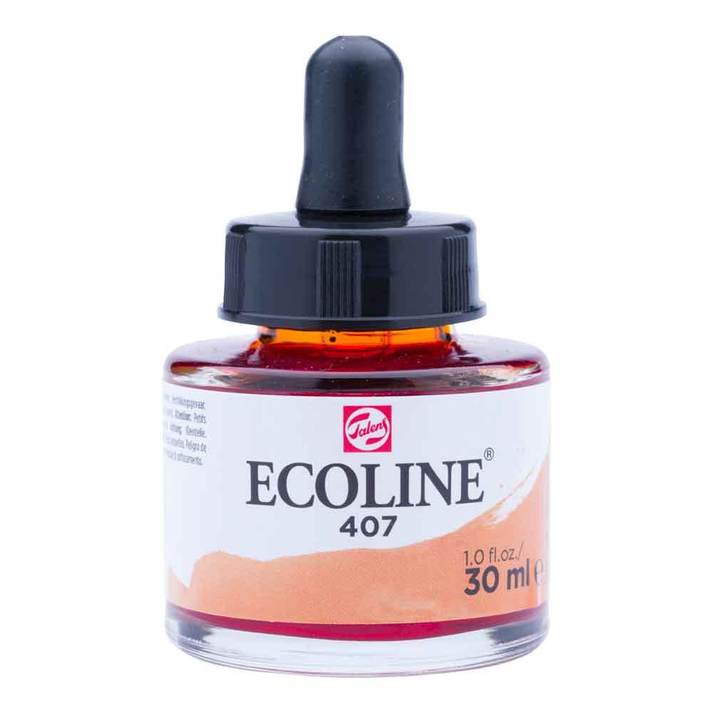 Tinta Aquarela Líquida Ocre Escuro 407 - Ecoline Talens 30ml