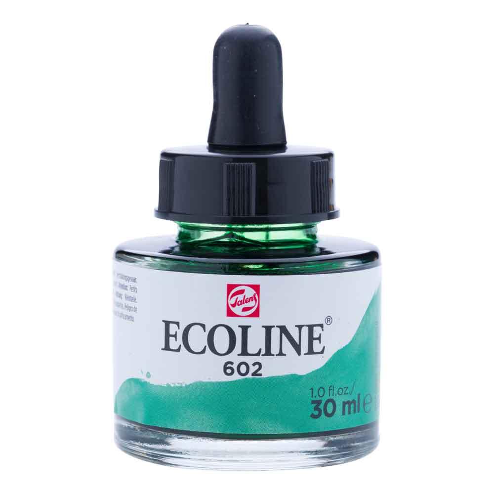 Tinta Aquarela Líquida Verde Escuro 602 - Ecoline Talens 30ml