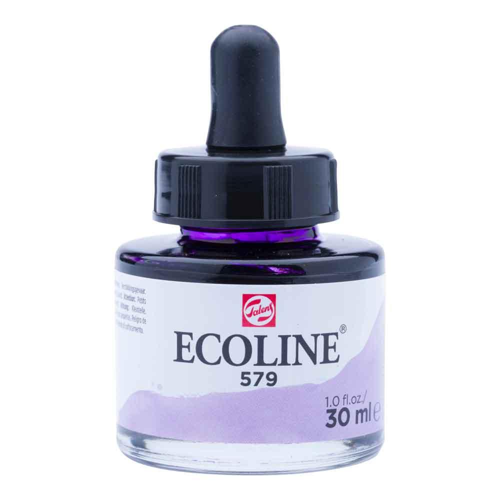 Tinta Aquarela Líquida Violeta Pastel 579 - Ecoline Talens 30ml