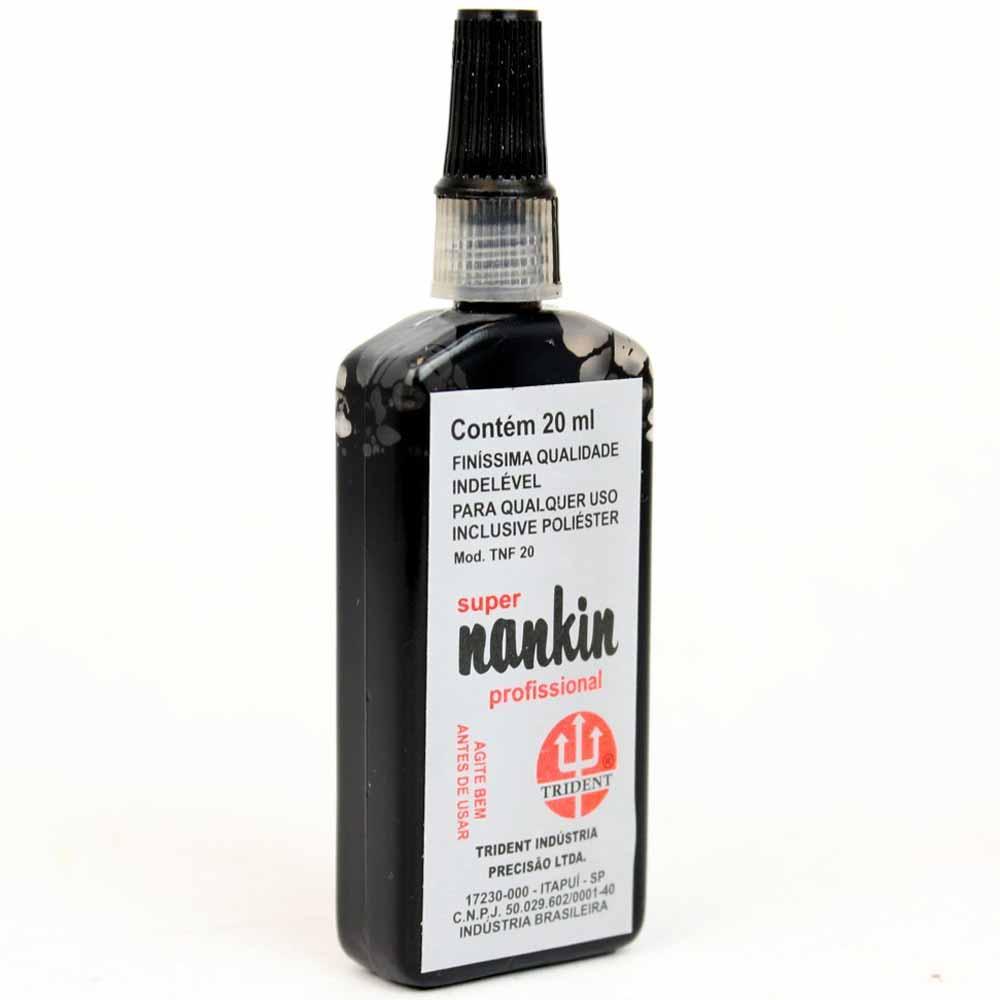 Tinta nanquim 20ml para desenho TNF-20 Trident