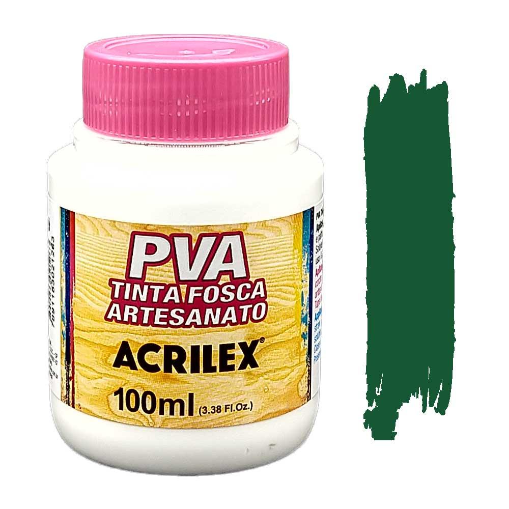 Tinta PVA fosca 100ml Acrilex - 513 Verde Musgo