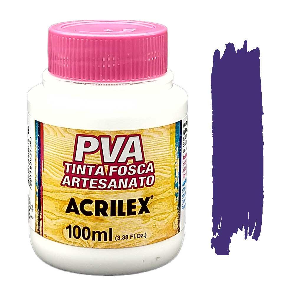 Tinta PVA fosca 100ml Acrilex - 516 Violeta