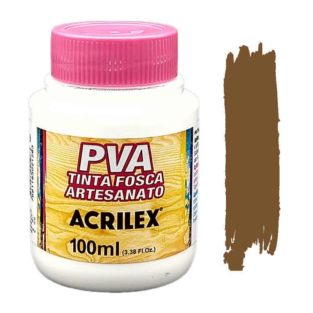 Tinta PVA fosca 100ml Acrilex - 531 Marrom