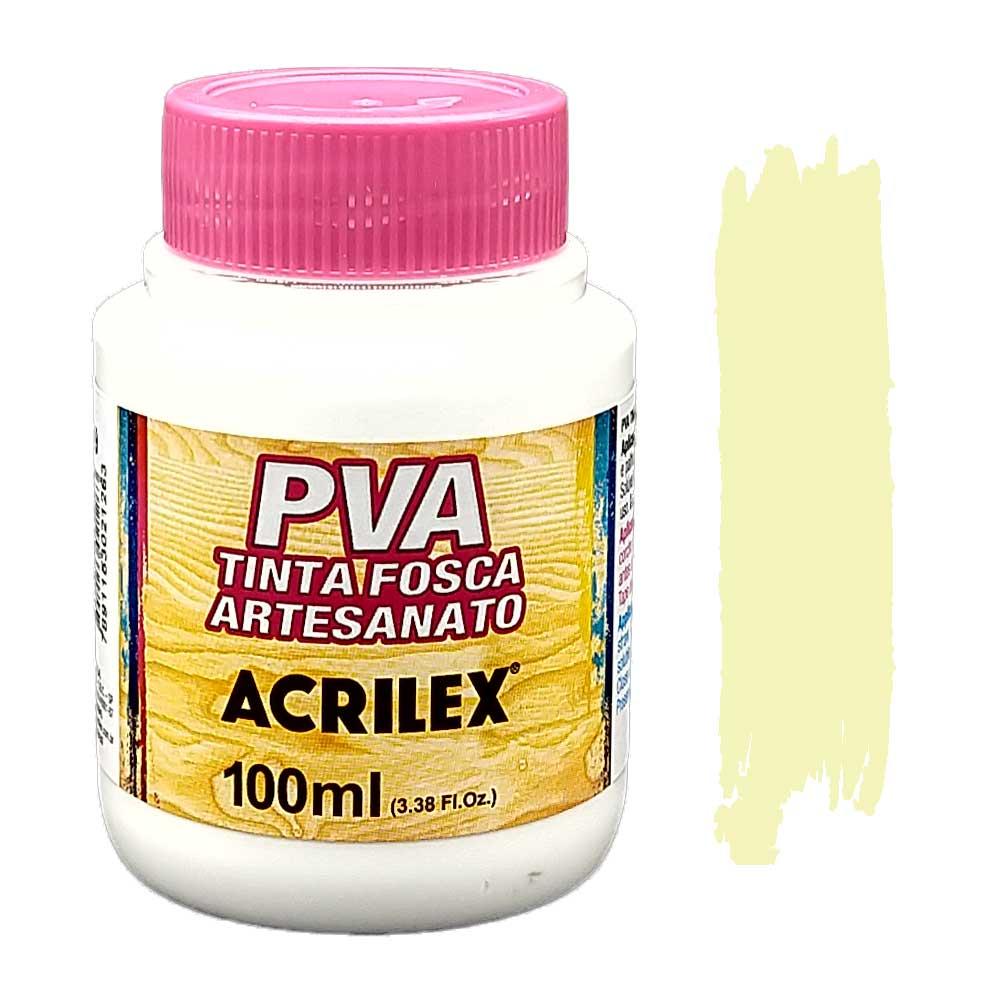 Tinta PVA fosca 100ml Acrilex - 834 Palha