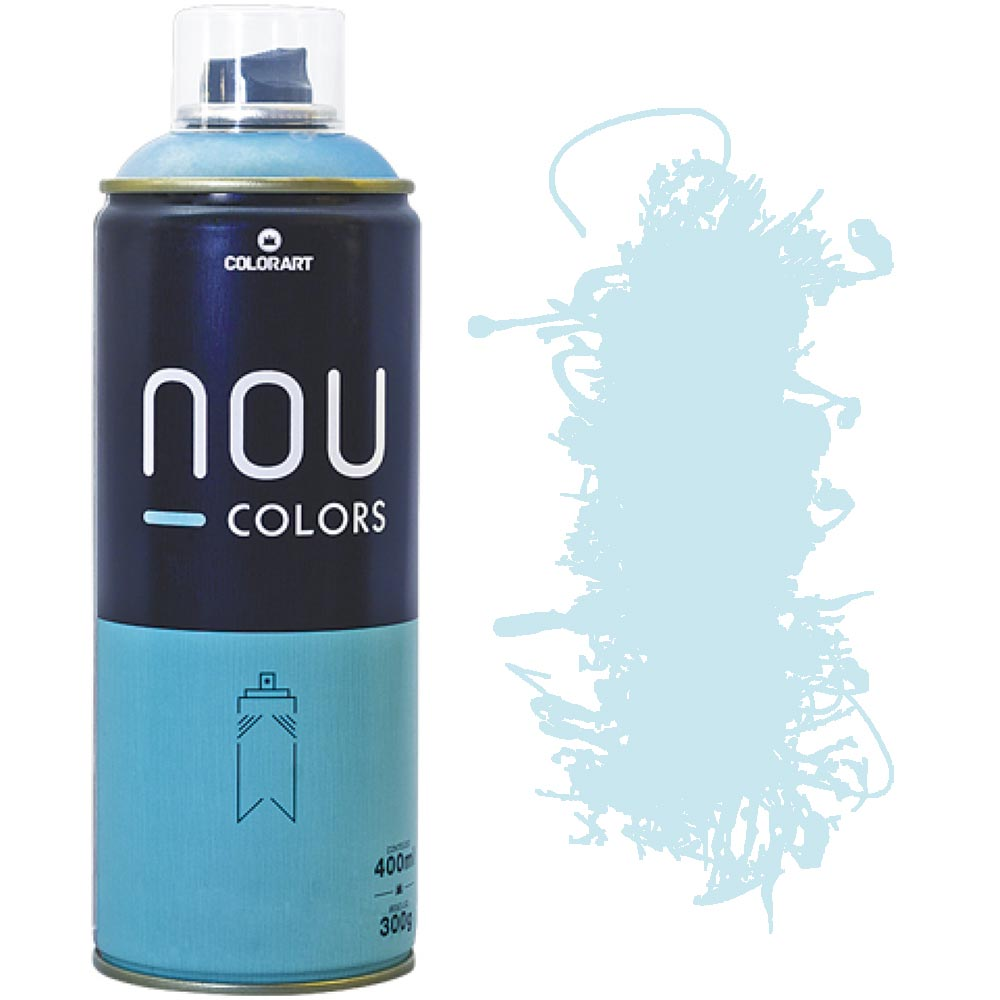 Tinta Spray Nou Colors 400ml Azul agua 70023