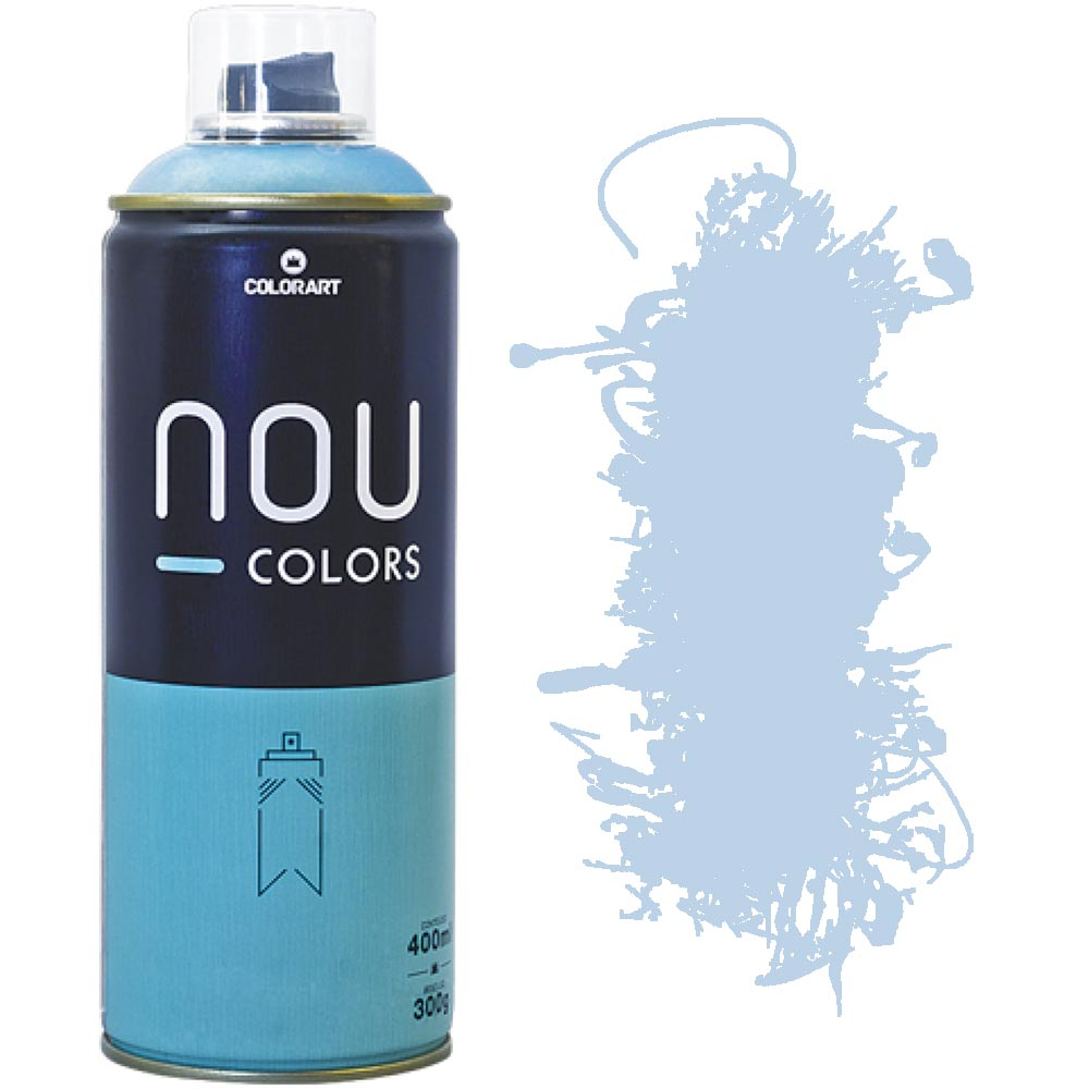 Tinta Spray Nou Colors 400ml Azul anjo 70256