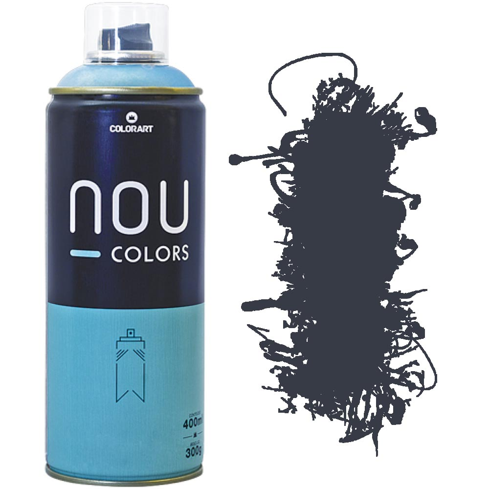 Tinta Spray Nou Colors 400ml Cinza escuro 70028