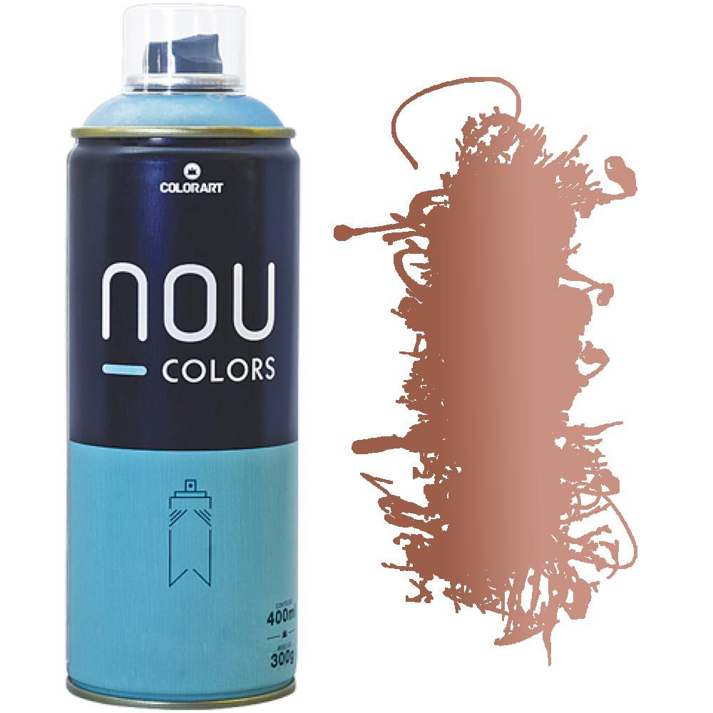 Tinta Spray Nou Colors 400ml Cobre Metálico 70047