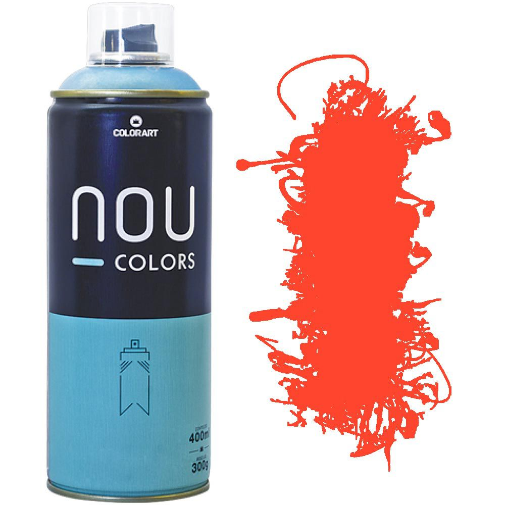 Tinta Spray Nou Colors 400ml Laranja luminoso 70043