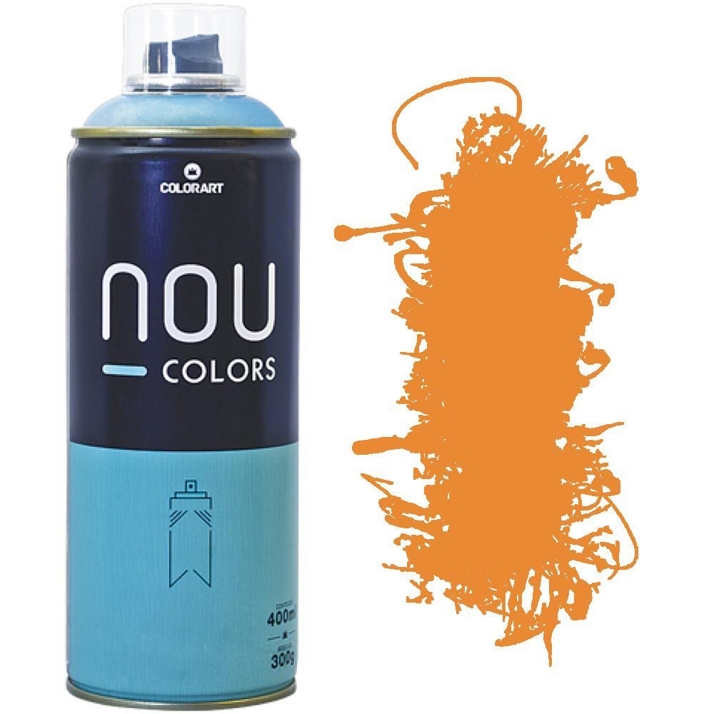Tinta Spray Nou Colors 400ml Laranja none 70007