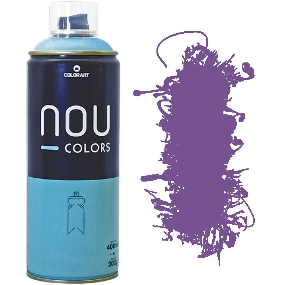 Tinta Spray Nou Colors 400ml Lilás 70015