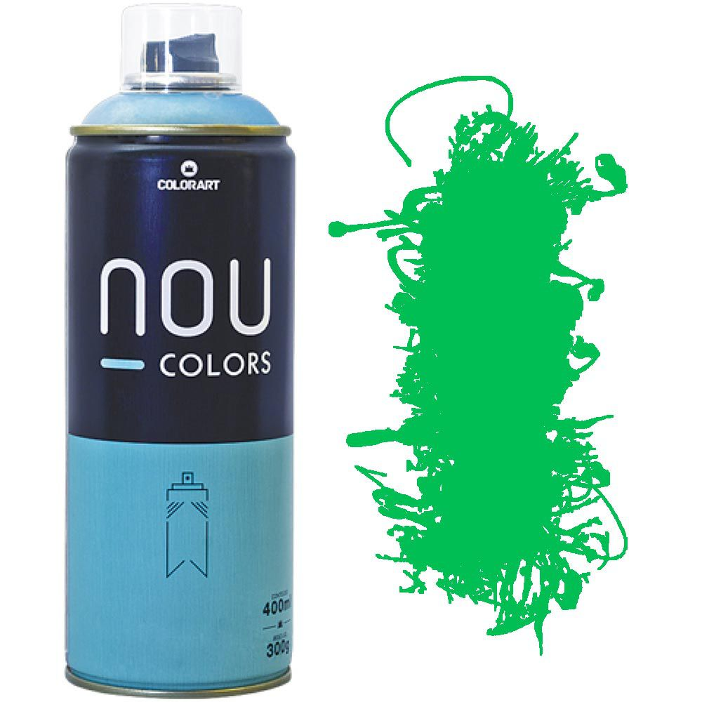 Tinta Spray Nou Colors 400ml Verde luminoso 70045
