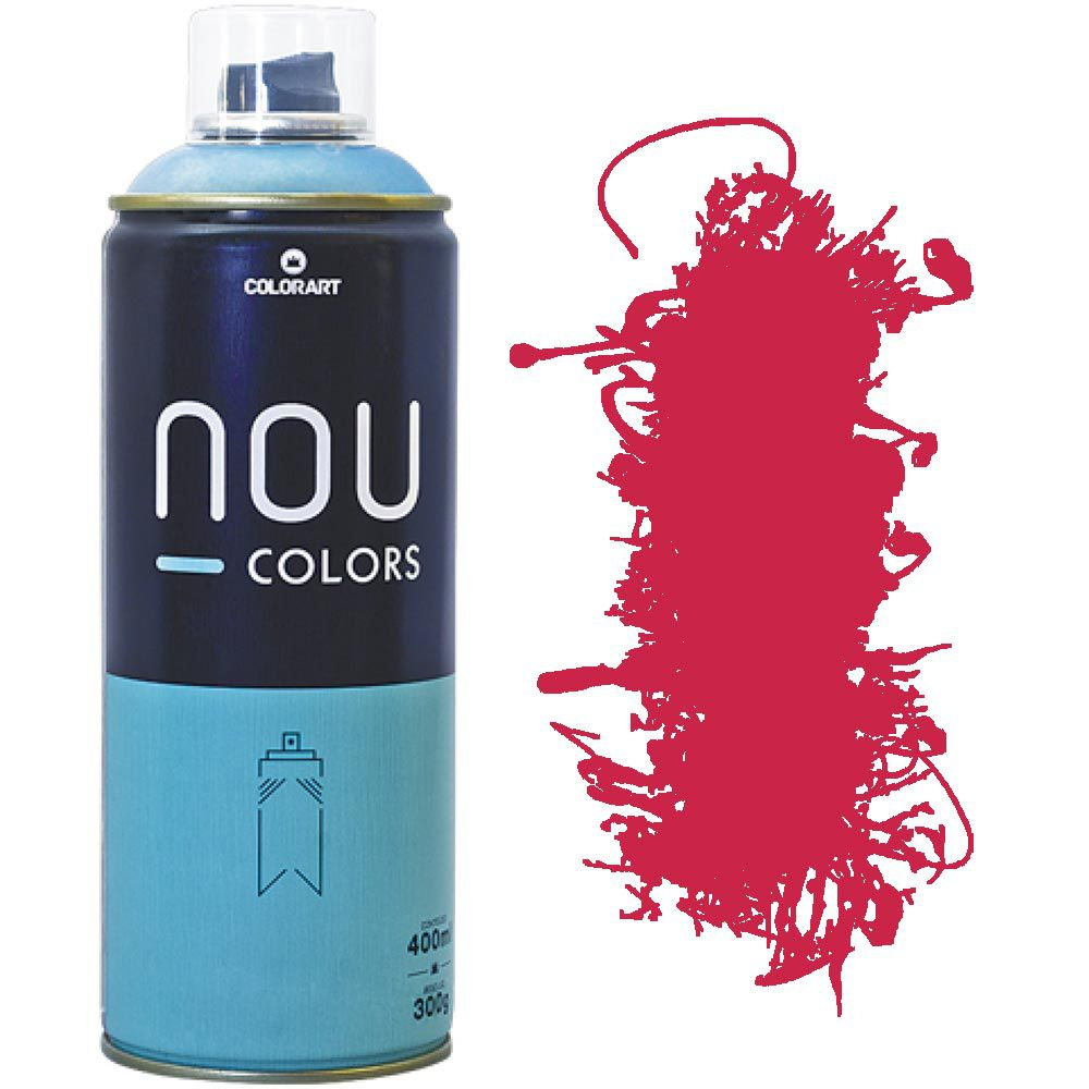 Tinta Spray Nou Colors 400ml Vermelho bordo 70011