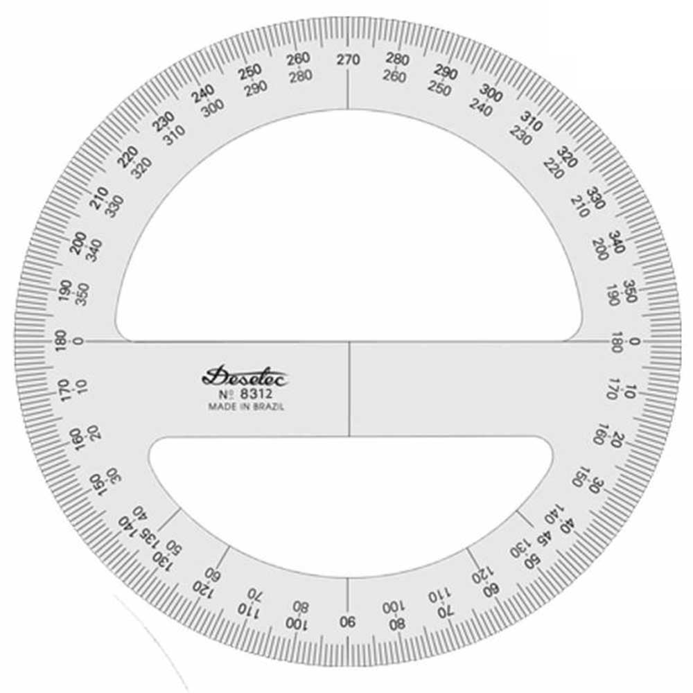 Transferidor 360 graus 12cm Mod.8312 Trident