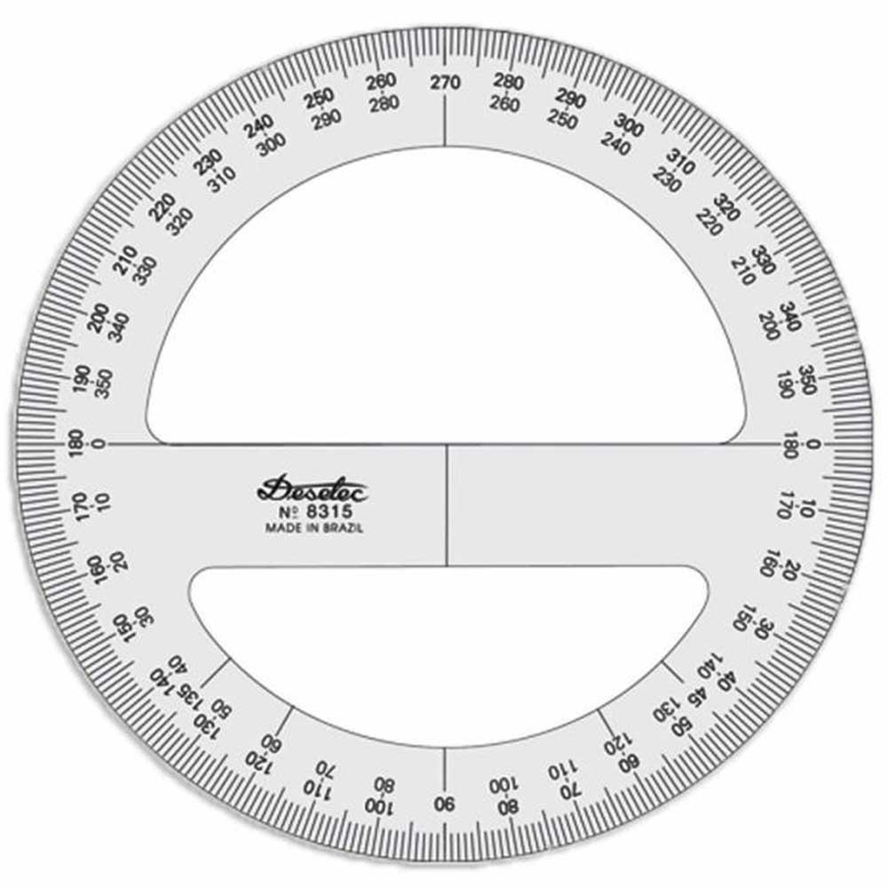 Transferidor 360 graus 15cm Mod.8315 Trident