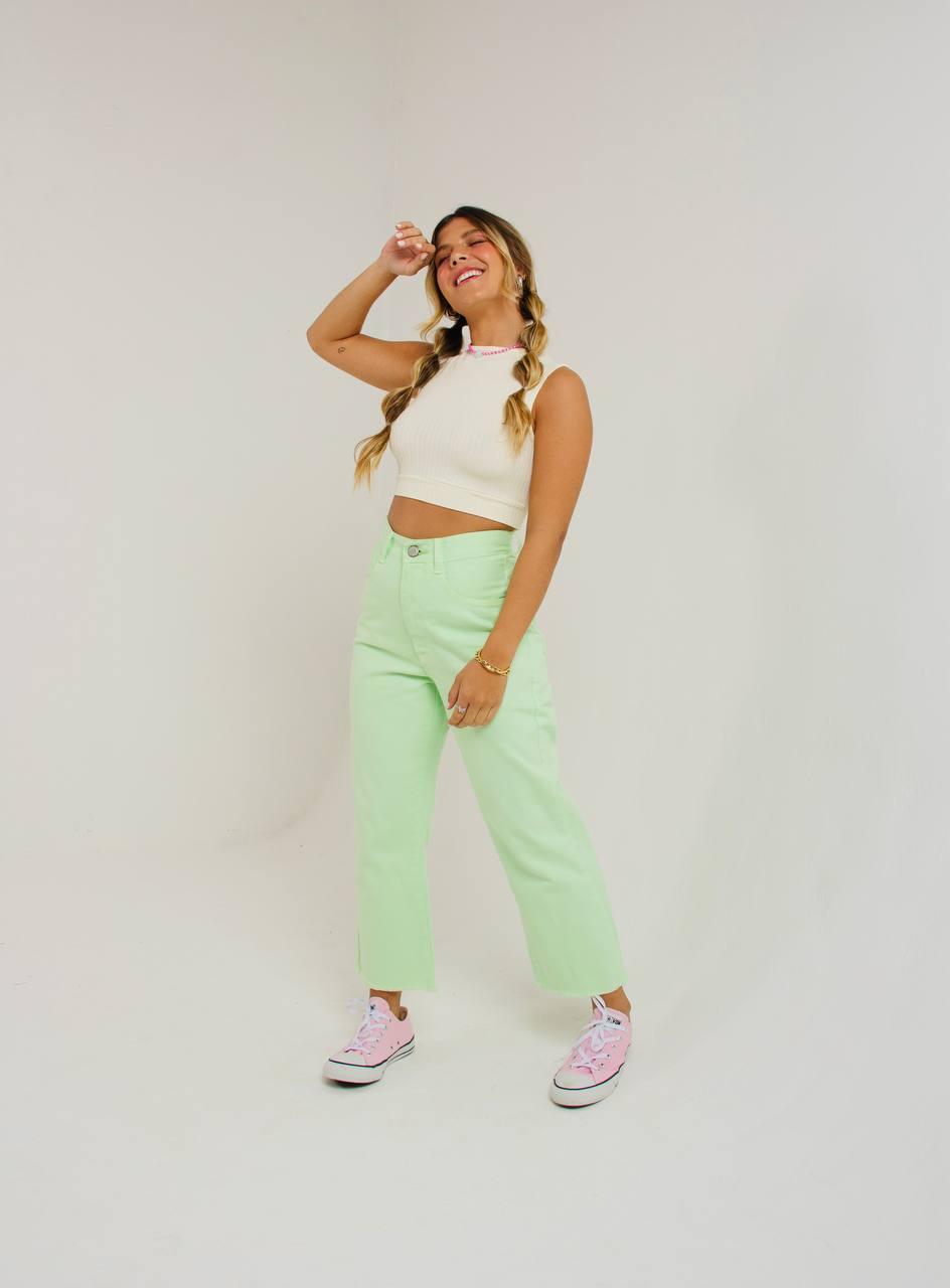calça MIDI color fun green