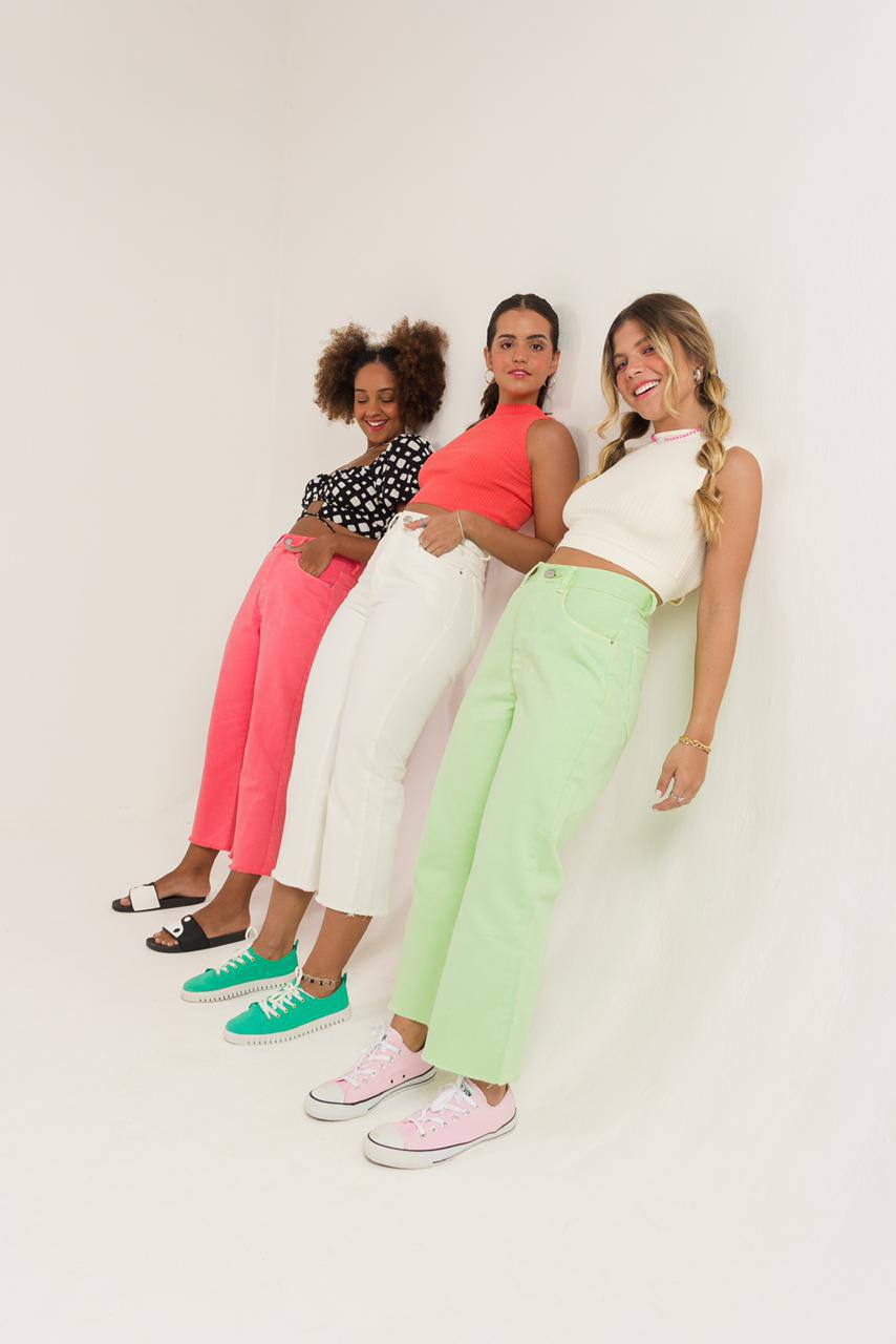 calça MIDI color fun pink