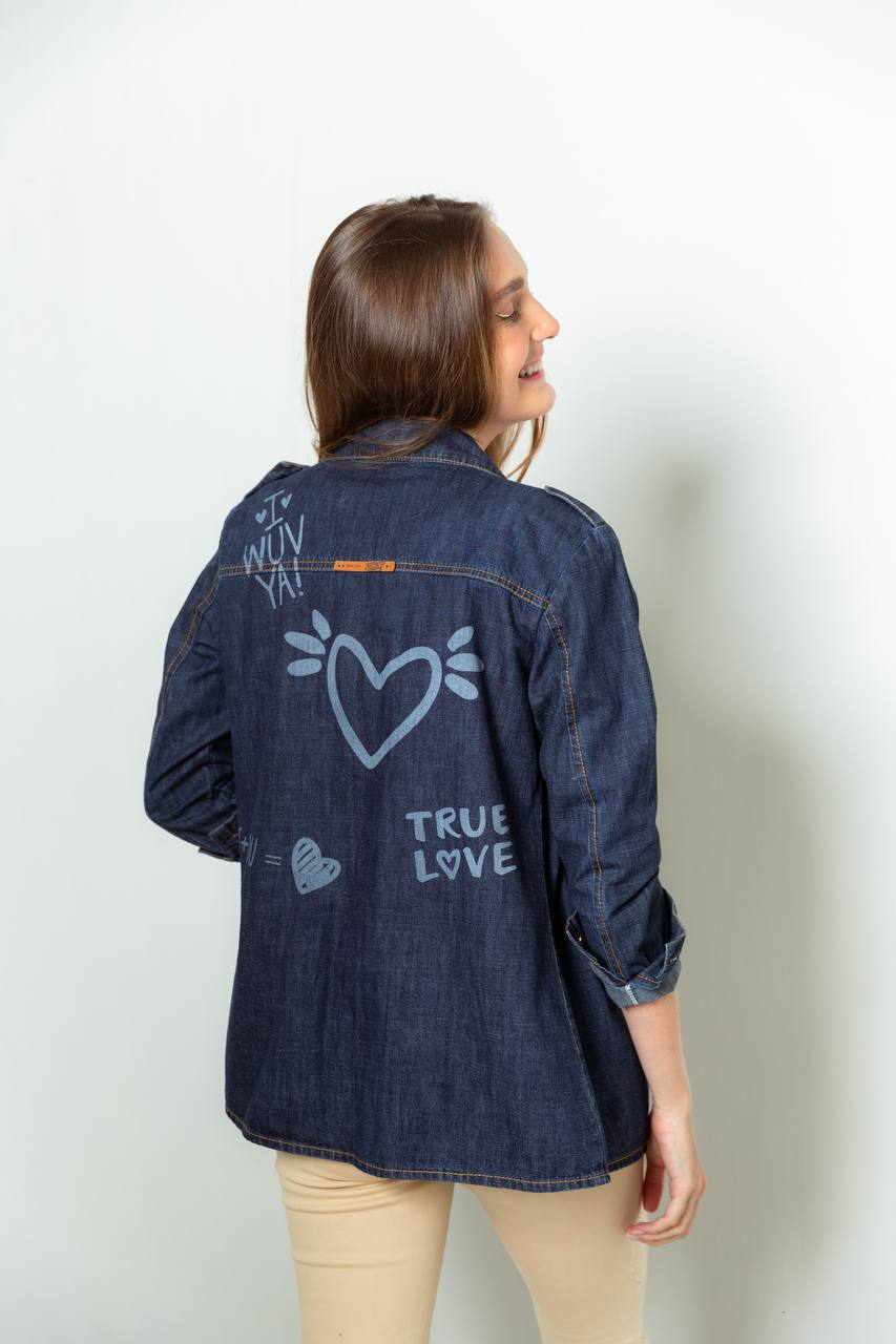 camisa denim true love