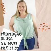 BLUSA PLUS SIZE AMARRAR ANN ALÍCIA A14136