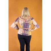 BLUSA PLUS SIZE JOELMA MG FLAIR A13113