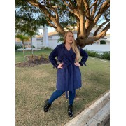 CASACO PLUS SIZE TRENCH COAT A14763 CINZA 48