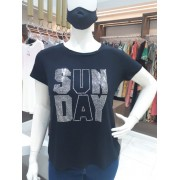 TSHIRT STRASS PRATA SUN DAY