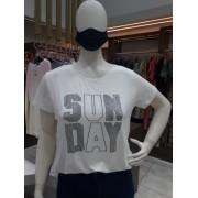 TSHIRT STRASS PRETO SUN DAY