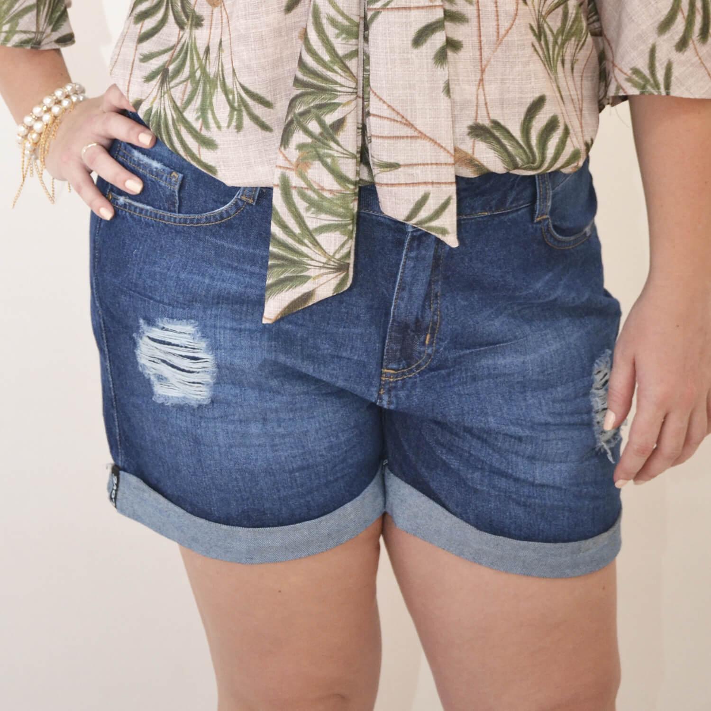 Bermuda Jeans Feminina Plus Size - Annual Plus