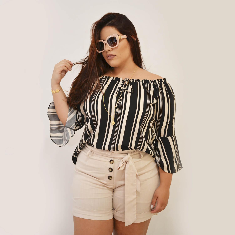 Blusa Ciganinha Feminina Plus Size - Annual Plus