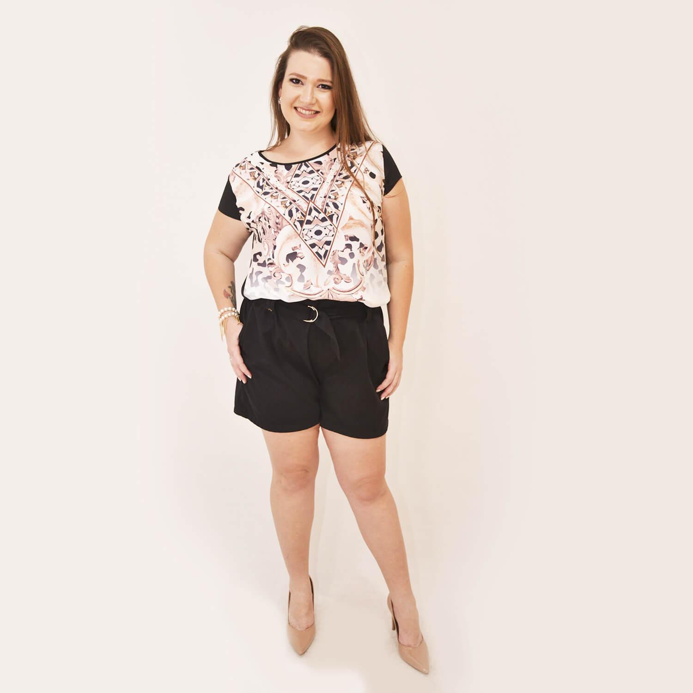 Blusa Feminina Estampada Plus Size - Annual Plus