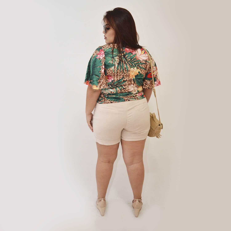 Blusa Feminina Estampada Plus Size Maria - Annual Plus