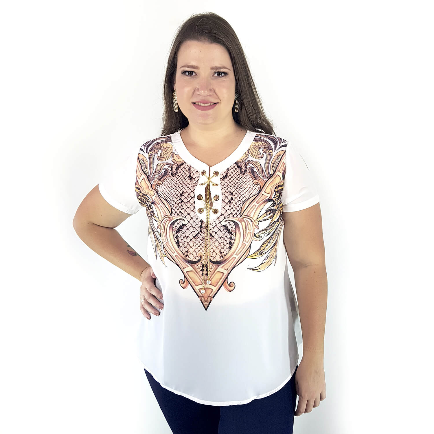 Blusa Feminina Lisa Plus Size - Annual Plus