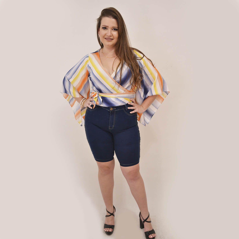 Blusa Feminina Plus Size transpassada  - Annual Plus