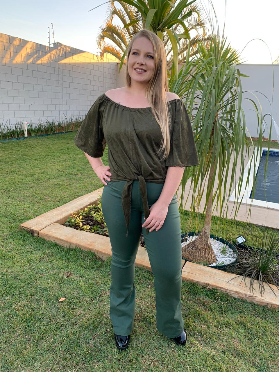 BLUSA PLUS SIZE FT AM.SUEDE A14826