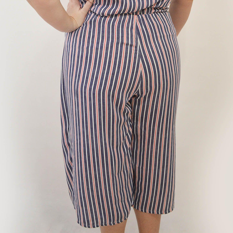 Calça Feminina Listrada Plus Size - Annual Plus