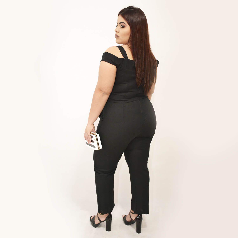 Macacão Feminino de Linho Plus Size - Annual Plus