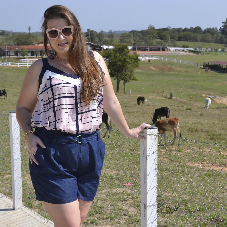 Regata Feminina Estampada Plus Size - Annual Plus
