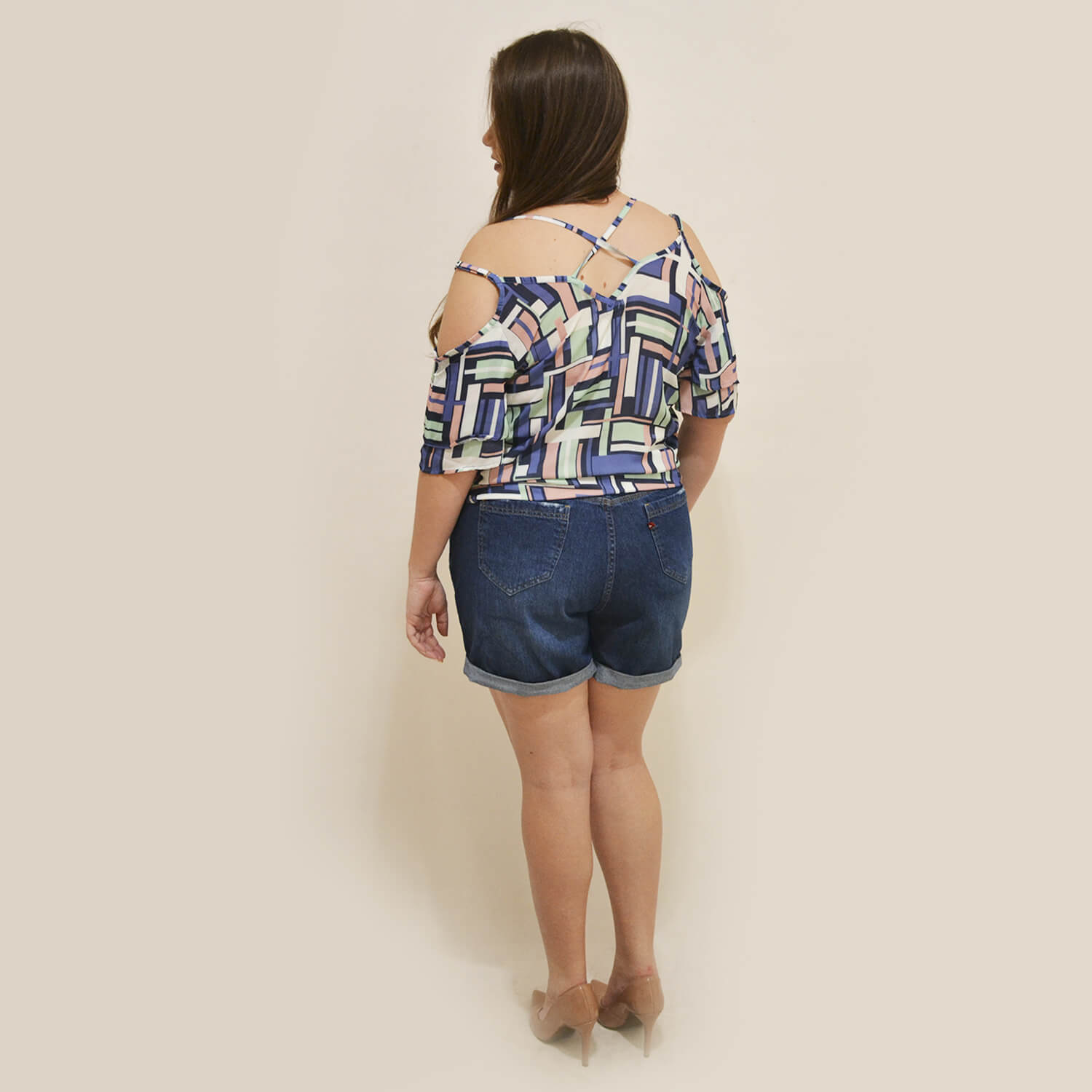 Regata Feminina Estampada Plus Size - Annual Plus