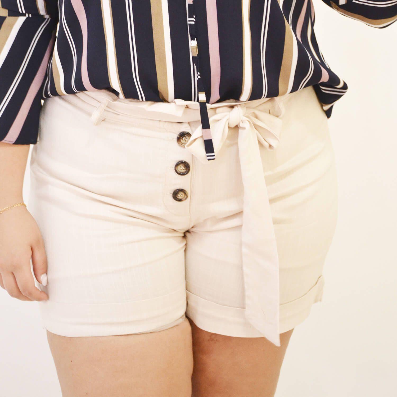 Shorts Feminino Básico Plus Size - Annual Plus
